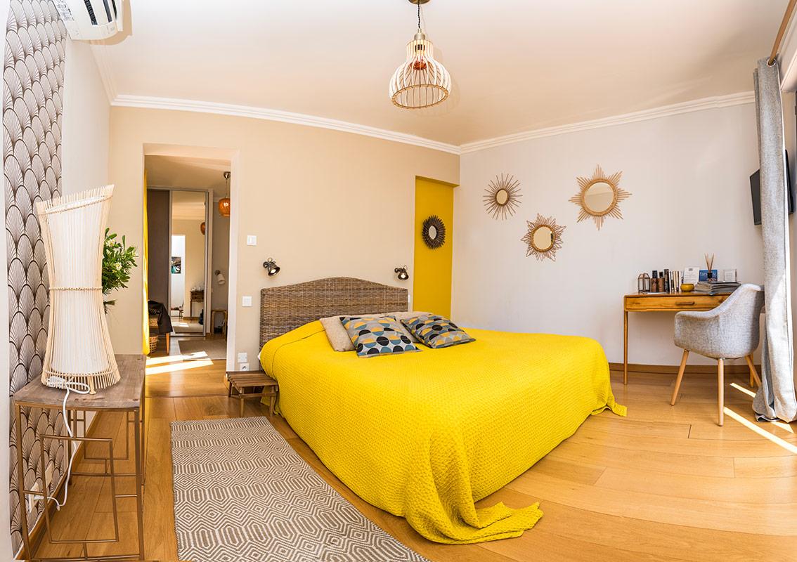 Nos chambres d 39 h tes cassis vue panoramique sur mer villa andrea - Villa cassis chambre d hote ...