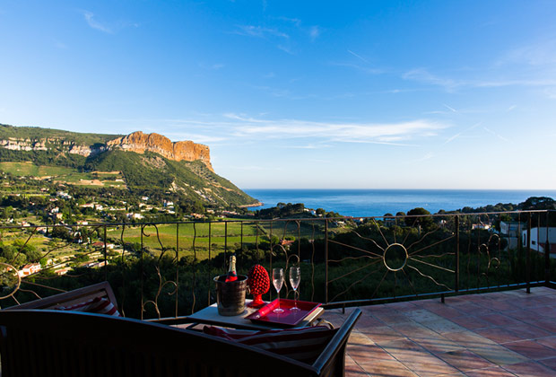 Solar suite - The terrasse with the panoramic view of Cassis